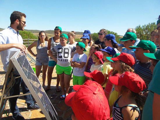 Imagen de una de los talleres sobre energías renovables.