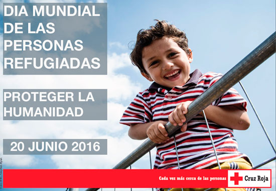 Cartel de la campaña de Cruz Roja en el Día Mundial del Refugiado.