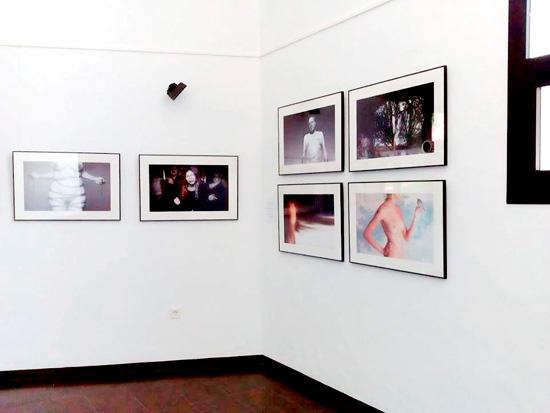 Imagen de algunas de las obras de la exposición.