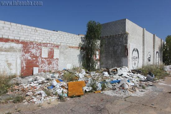 Vista general de una de las montañas de residuos.
