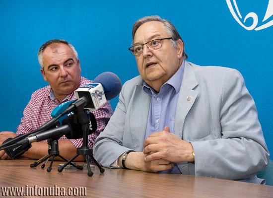 El presidente de la Federación Andaluza de Fútbol, Eduardo Herrera, en un acto reciente en la delegación onubense de la RFAF.