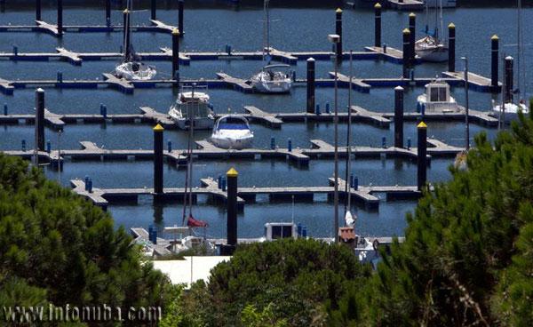 Imagen del Puerto Deportivo de Mazagón.