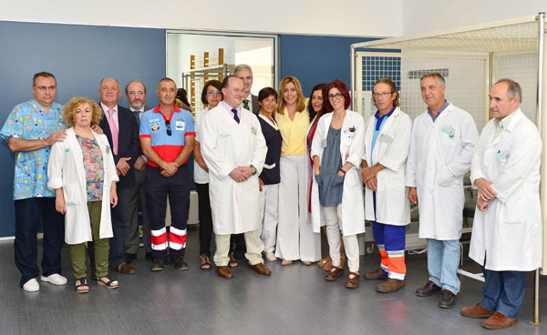 Acto de inauguración del Centro de Salud de Cumbres Mayores.