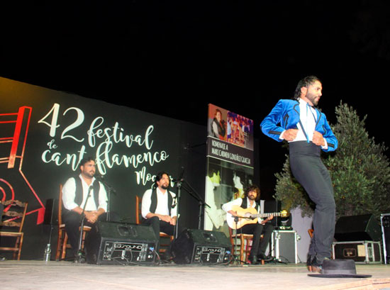 Juan Fernández Montoya 'El Barullo', durante su actuación.