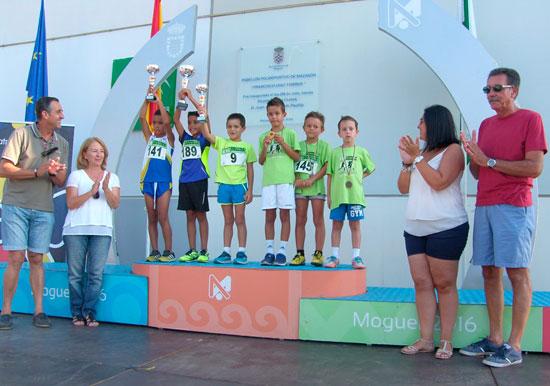 Los pequeños mostraron una gran alegría al proclamarse campeones de la prueba.