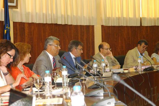 Imagen del Consejo de Gobierno de la Universidad de Huelva celebrado esta mañana.