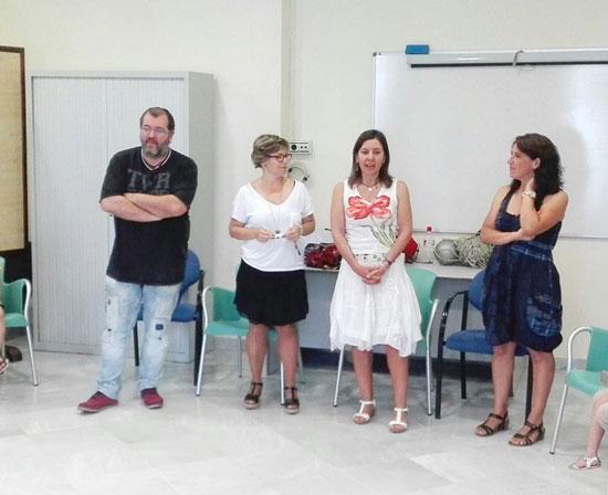 Técnicos en una sesión en la localidad de Gibraleón.