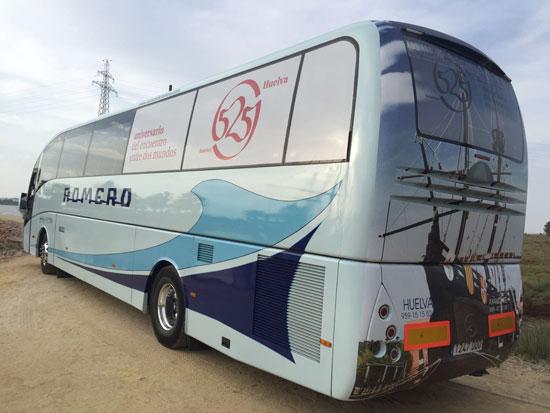 Imagen de la rotulación del autobús.