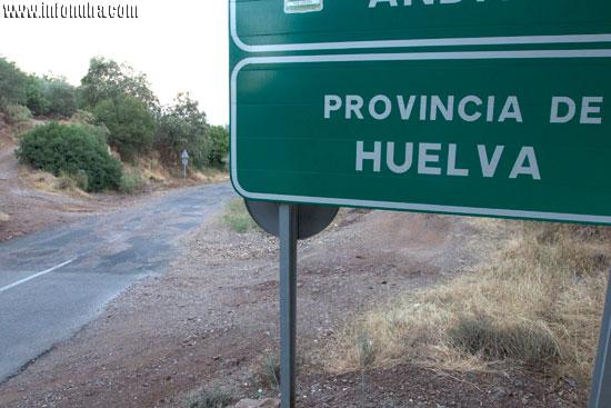 Imagen de la carretera provincial HU-9108.