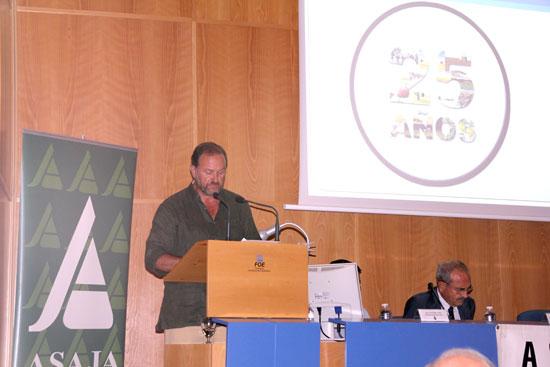 García-Palacios durante su intervención en el acto.