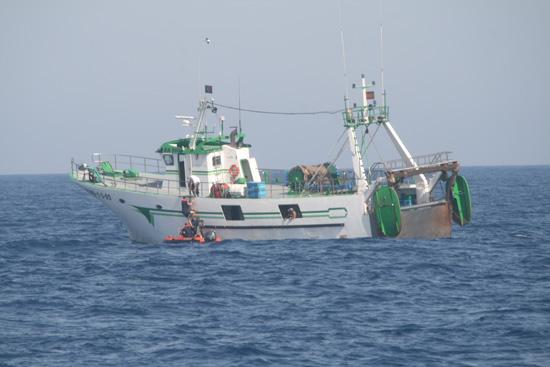 Imagen de una de las embarcaciones revisadas en el dispositivo.