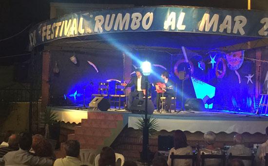 Imagen de una actuación en el Festival Flamenco Rumbo al Mar de Punta Umbría.