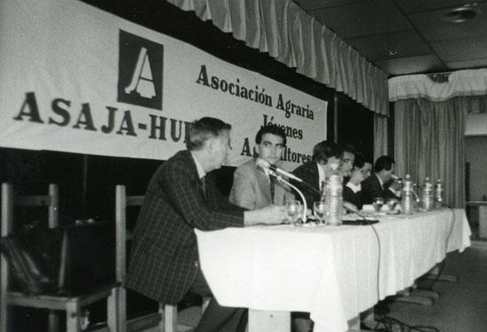 Imagen de los inicios de Asaja Huelva.