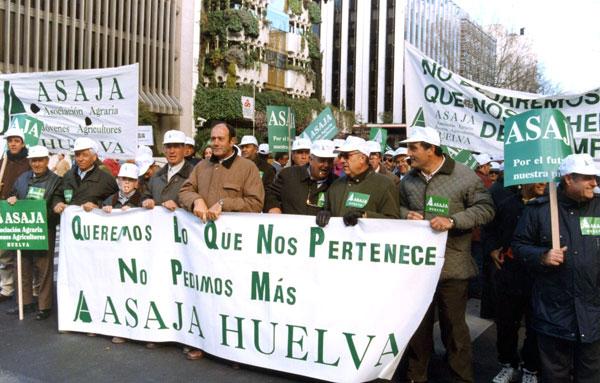 Imagen de una movilización de Asaja.
