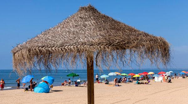 Imagen de la playa de Punta Umbría.