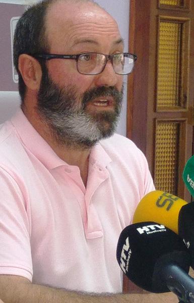 Pedro Jiménez, Presidente de Grupo de Izquierda Unida en el Ayuntamiento de Huelva.