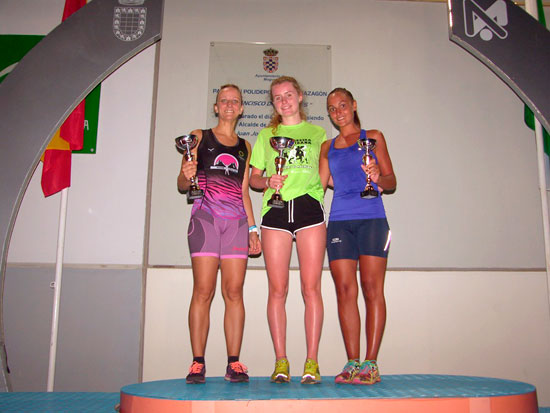 Imagen del podium femenino.