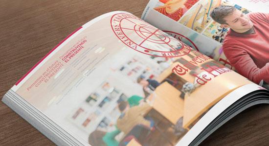 Imagen del catalogo de másteres de la Universidad de Huelva.
