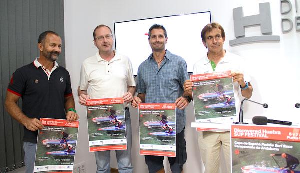 Presentación en la Diputación de Huelva de la Discovered Huelva SUP Festival 2016.