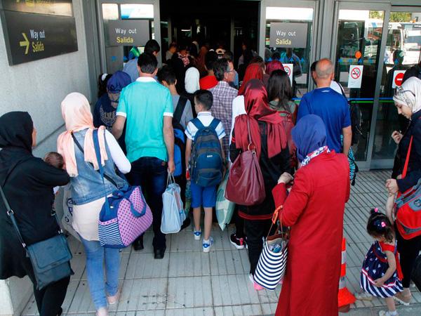 Imagen de la llegada de los refugiados procedentes de Líbano.