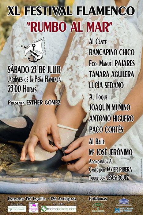Cartel del Festival Rumbo al Mar de Punta Umbría.
