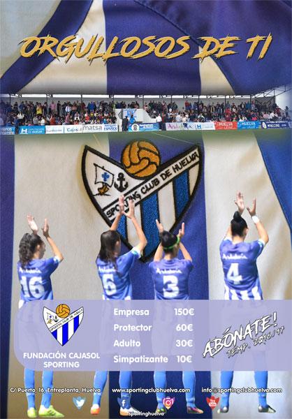 Imagen de la Campaña de Socios del Sporting Club de Huelva.