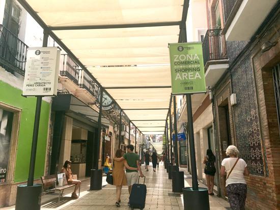 Imagen de la calle Concepción en la ciudad de Huelva.