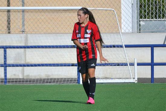 Irene durante un encuentro con el Sporting de Huelva.