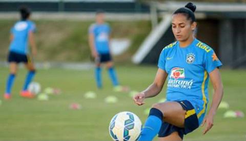 Juliete Silva, durante un entrenamiento.