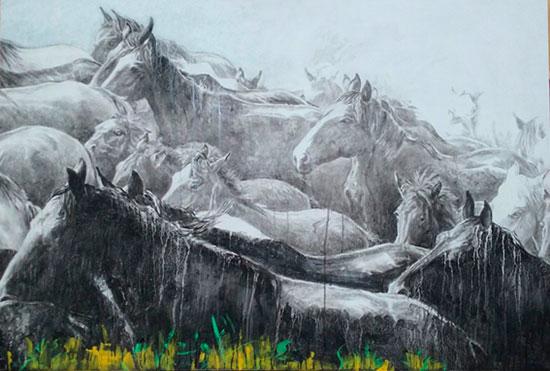 Imagen de una de las obras de Manolo Cordero.
