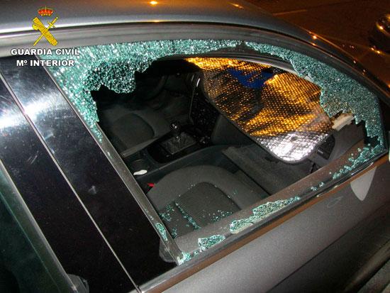 Imagen de uno de los vehículos afectados.