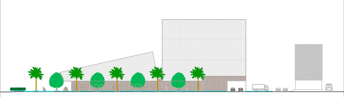 Una de la imágenes del proyecto de peatonalización de la avenida Italia.