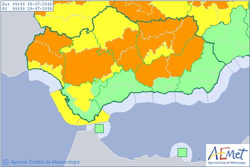 Mapa de AEMET.