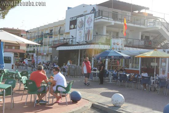 Imagen del bulevar de la playa de Matalascañas.