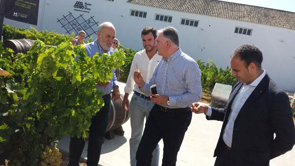 Imagen de la visita al Centro de Interpretación del Vino.