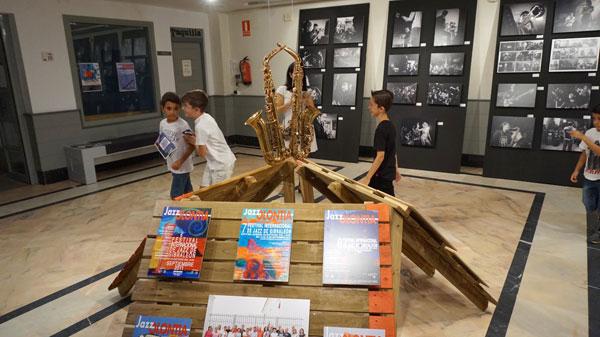 Imagen de la exposición Jazzolontia en la localidad de Cartaya.