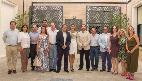 Recibimiento a Carolina Marín en la Diputación de Huelva.