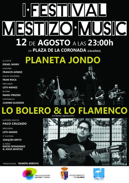 Cartel de la I edición del Festival Mestizo Music.