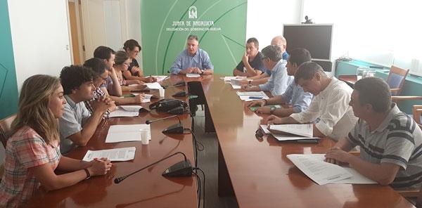 Imagen de la reunión en la jornada de ayer.