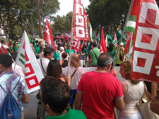 Imagen de la manifestación celebrada hoy en Sevilla.