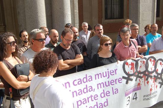Imagen de la concentración contra la violencia machista.