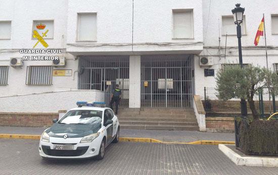 Imagen del Cuartel de la Guardia Civil de Almonte.