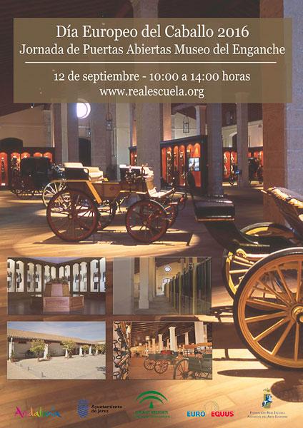 Cartel de las Jornadas de Puertas Abiertas del Museo del Enganche.