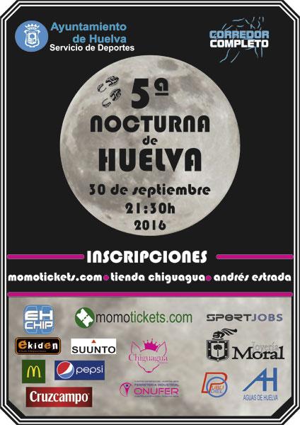 Cartel de la 5ª edición de la Carrera Nocturna de Huelva