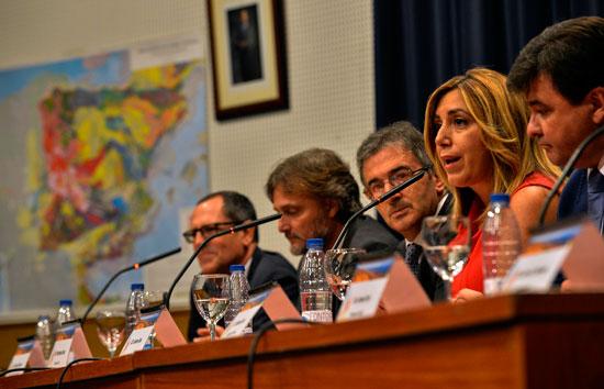Susana Díaz durante su intervención en el acto.