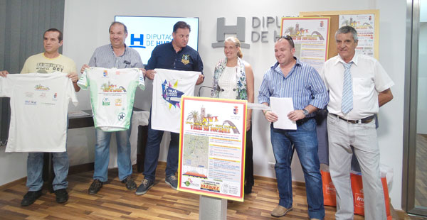 Presentación de la XVI Ruta Ciclista BTT-Gran Premio Villa de Paterna en la Diputación de Huelva.