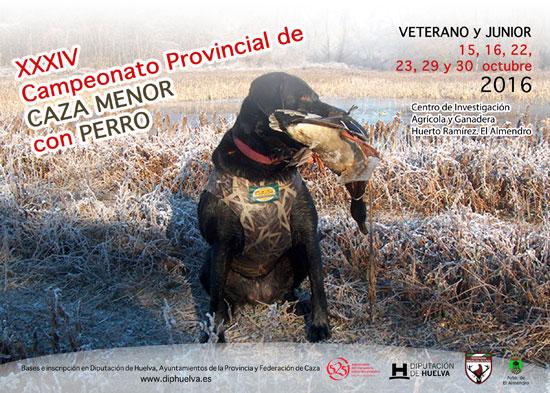 Cartel del XXXIV Campeonato Provincial de Caza Menor con Perro