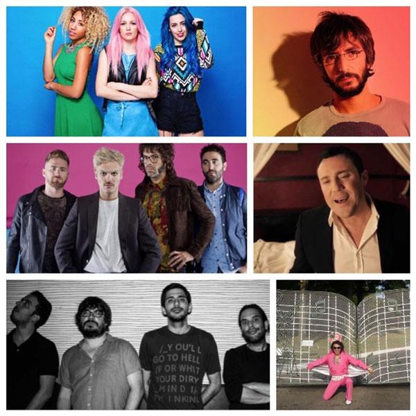 Imagen de los diferentes artistas que actuarán en las Fiestas de la Cinta.