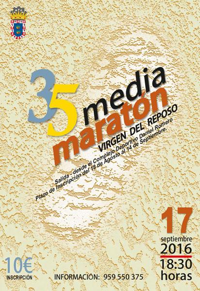 Cartel de la XXXV edición de la Media Maratón Virgen del Reposo.