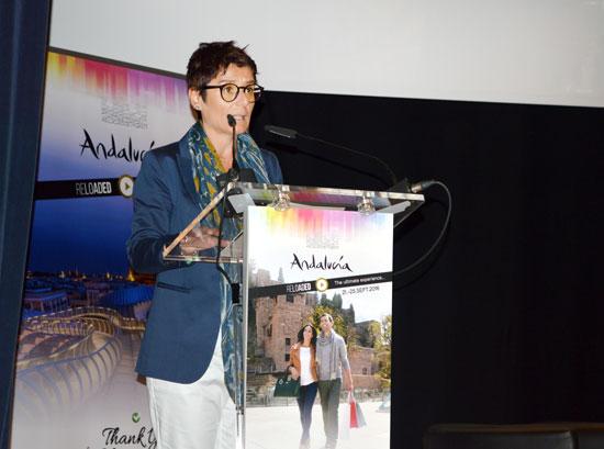 La secretaria general para el Turismo, Susana Ibáñez, ha inaugurado hoy el I Congreso Cosmopolita 'Andalucía Reloaded'.
